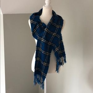 RARE! Blue plaid Burberry Scarf